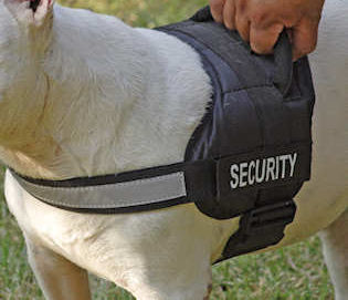 REFLECTIVE Dog HARNESS with a handle for police dogs