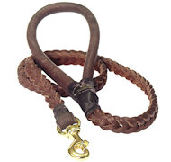 Braided Leather Dog Leash 4 foot-Braided Lead police dogs