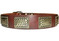 Luxury Leather Dog Collar for police dogs
