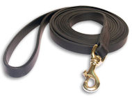 Tac-Black Leather Classic Agitation Leads for Working Dog