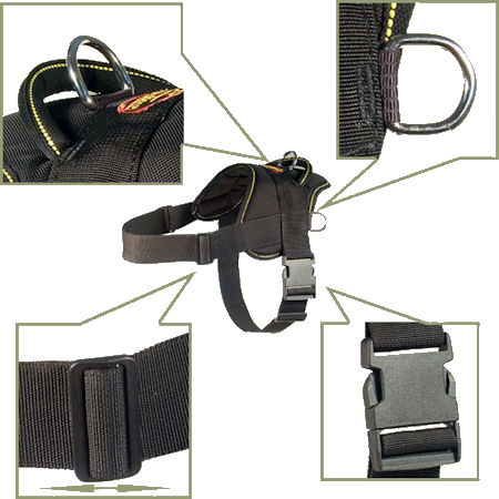 Lightweight Dog Harness for schutzhund dogs