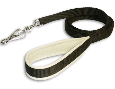 Double-Ply Nylon Leash 3/4 inch for schutzhund dogs