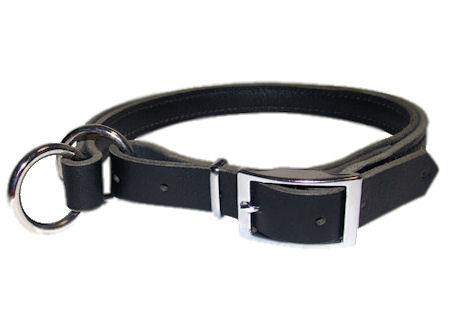 Adjustable Leather Slip Collar