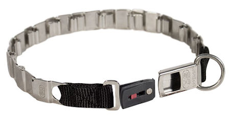 24 inch STAINLESS STEEL Sprenger dog collar NECK TECH COLLAR for Schutzhund dogs