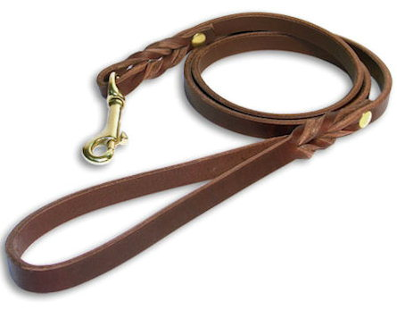 Get Custom Leather Dog Leash for all dogs with brass hook