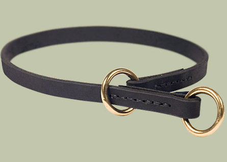 For all dogs Leather Choke Collar for-Silent Collar