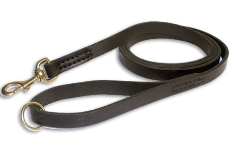 Leather Rescue Leash 3/4 inch on 6 FOOT for police dogs