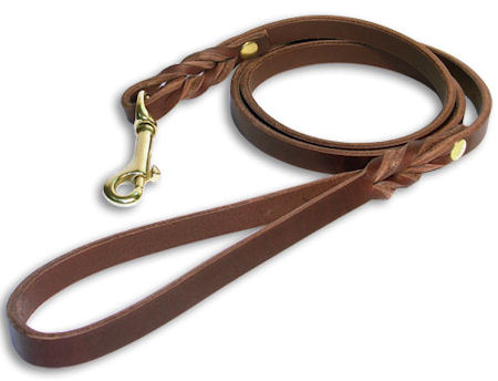 Leather dog Leash for training, tracking, walking