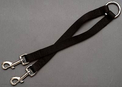 Nylon 2-Way Couplers Leash for 2 working dogs