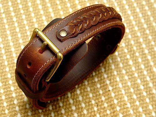 Handcrafted Leather Dog Collar