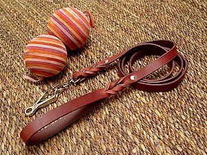 Handcrafted leather dog leash with quick release snap hook for dog training or for dog owners