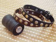 Leather Special Dog Collar With Circles