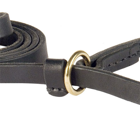 Leather Slip Lead 6 FT on 1/2'' for police dogs