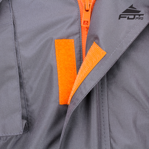 Top Notch Velcro Fastening on Dog Trainer Jacket for Handy Use