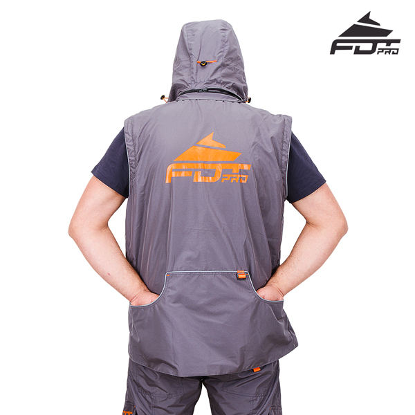 FDT Pro Dog Trainer Jacket with Back Pockets for Any Weather Use