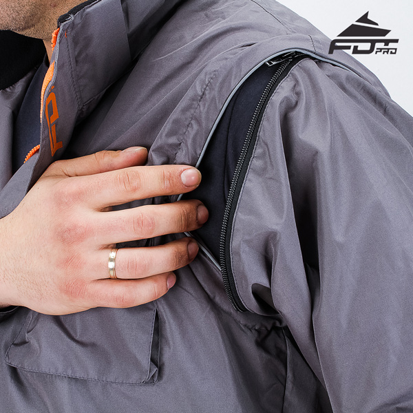 Top Rate Zipper on Sleeve for Professional Design Dog Tracking Jacket