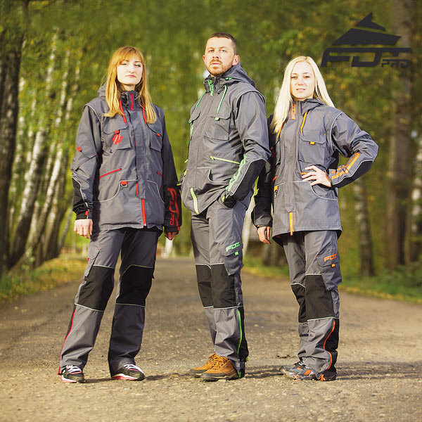 Top Notch Dog Trainer Suit for Any Weather Use with Reflective Strap