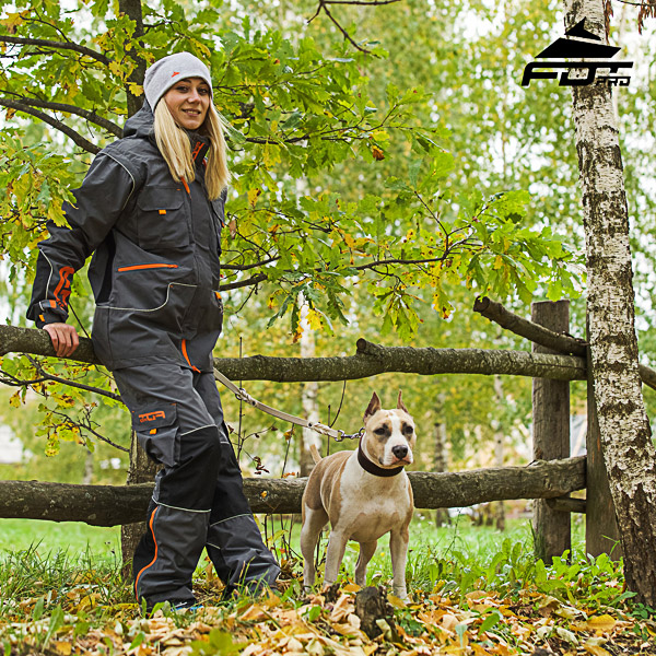 FDT Professional Orange Logo on Men and Women Design Pants for Active Dog Trainers