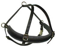 Tracking/Pulling Leather Dog Harness for all dog breeds